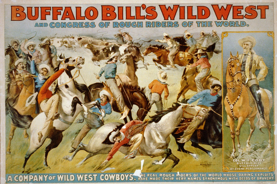 "Poster del ""Buffalo Bill Wild West Show"", 1899."